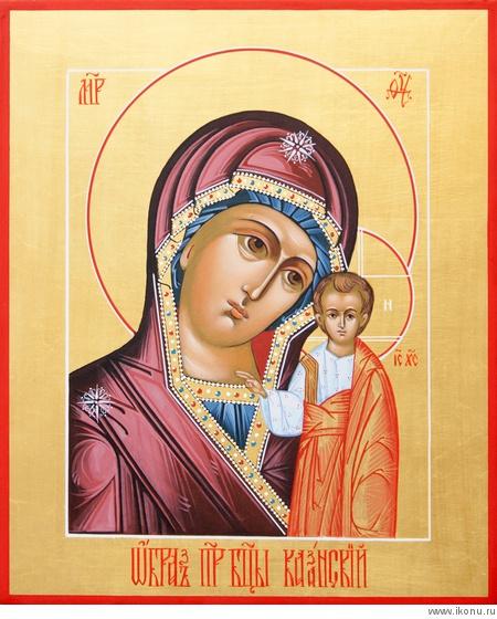 описание иконы казанской божьей матери: